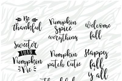 Fall season SVG Bundle 2, Thanksgiving SVG Printable