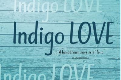 Indigo Love a Sans Serif Font