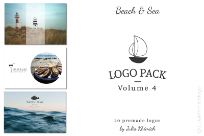 Logo Pack Volume 4. Beach & Sea