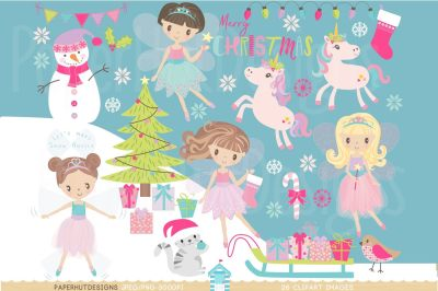 Christmas Fairy Clipart