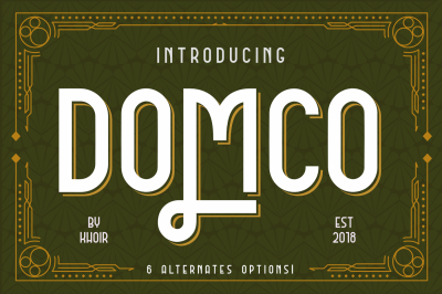 DOMCO New Art Deco Font