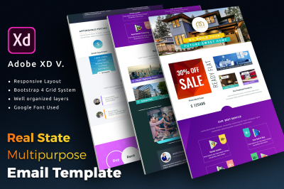 Real State Multipurpose Email Newsletter Template