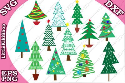 Christmas trees Bundle svg