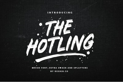 The Hotling Brush Font (Extras)
