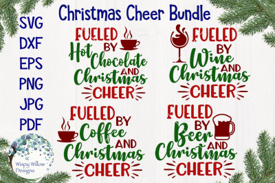 Fueled By Christmas Cheer SVG Bundle