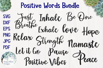 Positive Word SVG Bundle
