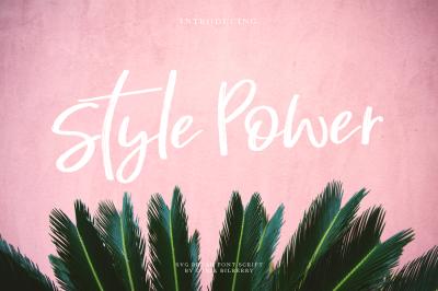 Style Power SVG brush font