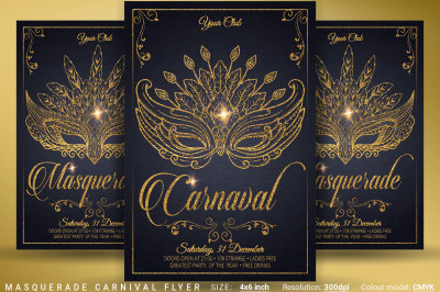 Masquerade Carnival Party Flyer