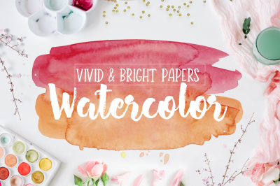 Watercolor Textures for Scrapbooking