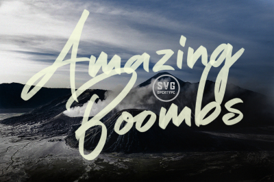 Amazing Boombs SVG Font