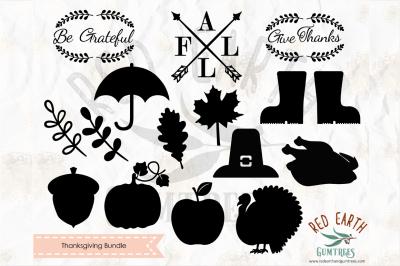 Thanksgiving bundle SVG,PNG,EPS,DXF, PDF formats