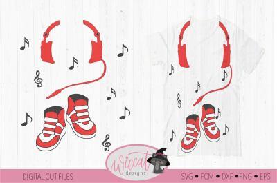DJ Headphone svg, Sneakers svg,