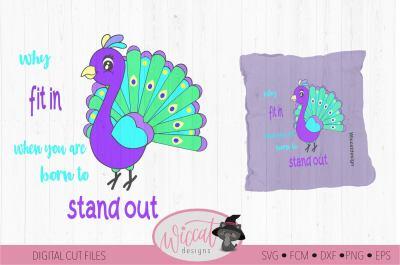 Cute little Peacock, kids design svg,