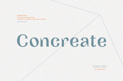 Concreate - display font