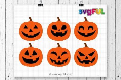 Jack-O-Lantern Svg File, Pumpkin Svg Cutting Files, Pumpkin Face SVG