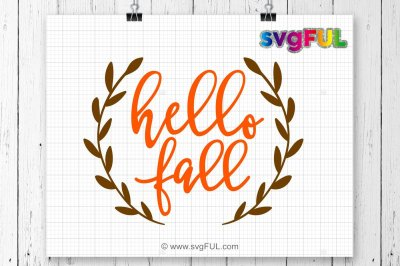 Hello Fall SVG, Fall Svg, Fall Cutting Files, Thanksgiving Svg, Svg