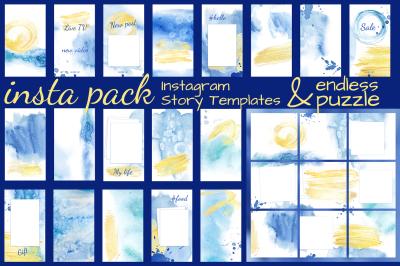 Watercolor instagram pack