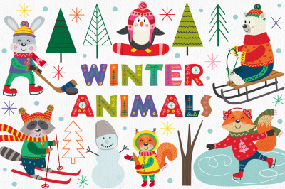 winter fun with animals