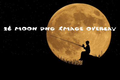26 moon Photo Overlays in PNG, Photography
