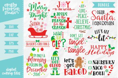 Christmas Bundle SVG DXF - 15 Designs V1