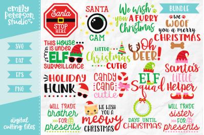 Christmas Bundle SVG DXF - 15 Designs V2