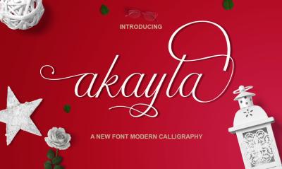 akayla script Calligraphy