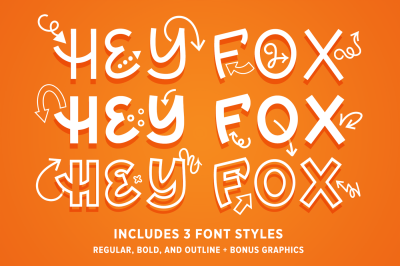 Hey Fox Font Trio + BONUS