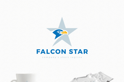 Falcon Star Logo Template