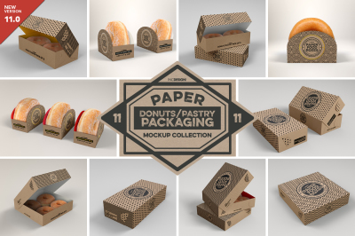 VOL 11: Paper Food Box Packaging Mockup Collection