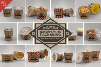 VOL 12: Paper Food Box Packaging Mockup Collection