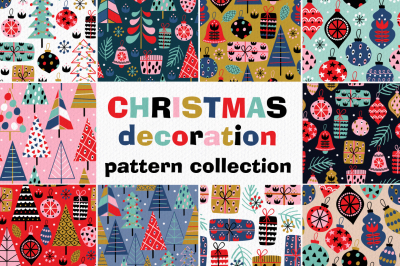 christmas decorations pattern collection