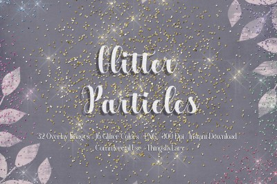 32 Glitter Particles Overlay Images Glitter Dust Confetti