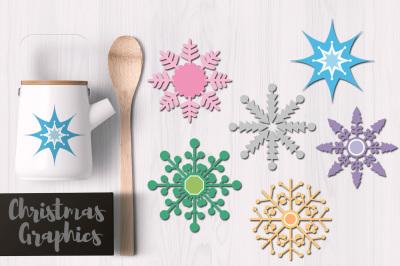 Snowflakes Pastel Colors