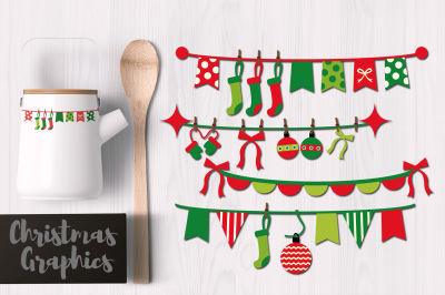 Christmas Pennant Banners Decor