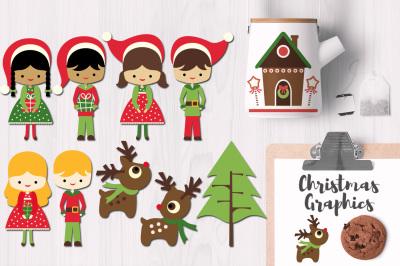 Santa's Little Helpers Christmas Graphics