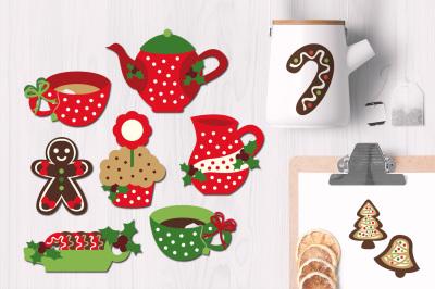 Tea Party Christmas Graphics