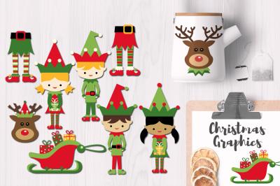 Christmas Elf Graphic Design