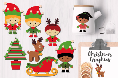 Christmas Elves Party Graphic