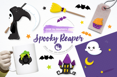 spooky reaper graphics and illustrations