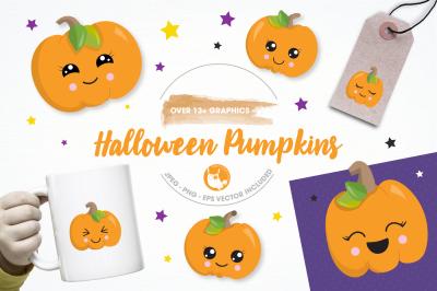 Halloween pumpkin graphics and illustrations