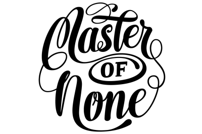 Master of None Lettering SVG