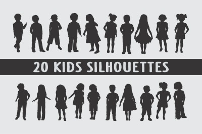Kids Silhouettes - 20 eps files