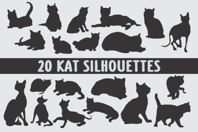 Cat breed silhouettes