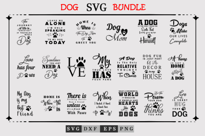 20 Dog Quotes SVG Bundle