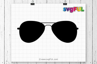 Sunglasses Svg, Sunglasses Silhouette, Sunglasses Outline, Cutting