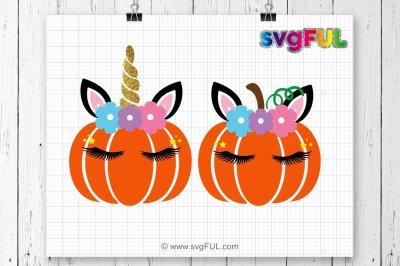 Pumpkin Svg, Pumpkin With Flowers, Pumpkin Head Svg, Silhouette Cut