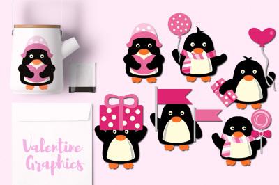 Cute Valentine Penguins