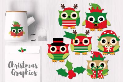 December Christmas Owls