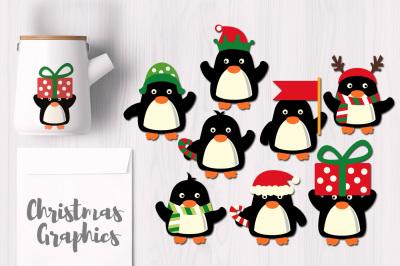 December Christmas Penguins
