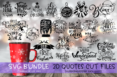 Christmas SVG Bundle Merry Christmas bundle